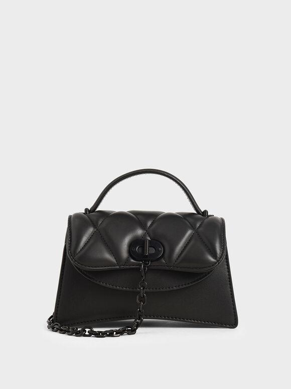 Padded Chain Link Bag, Ultra-Matte Black, hi-res