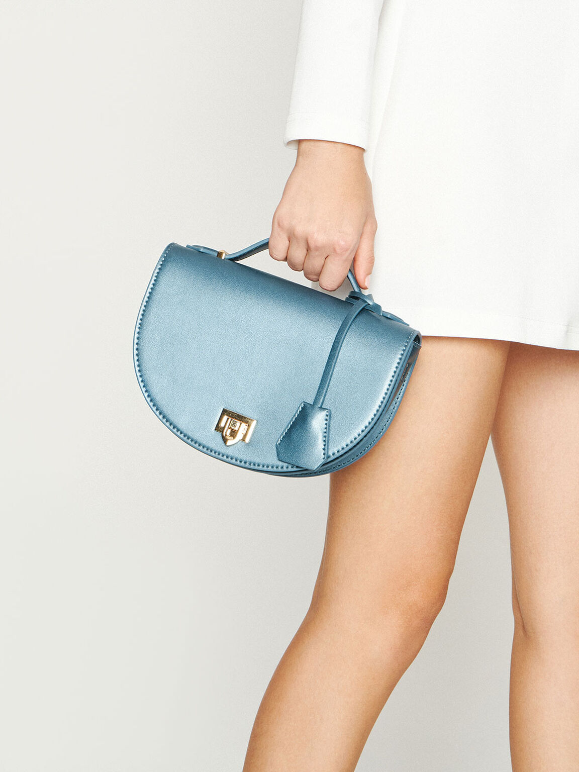 Top Handle Saddle Bag, Blue, hi-res