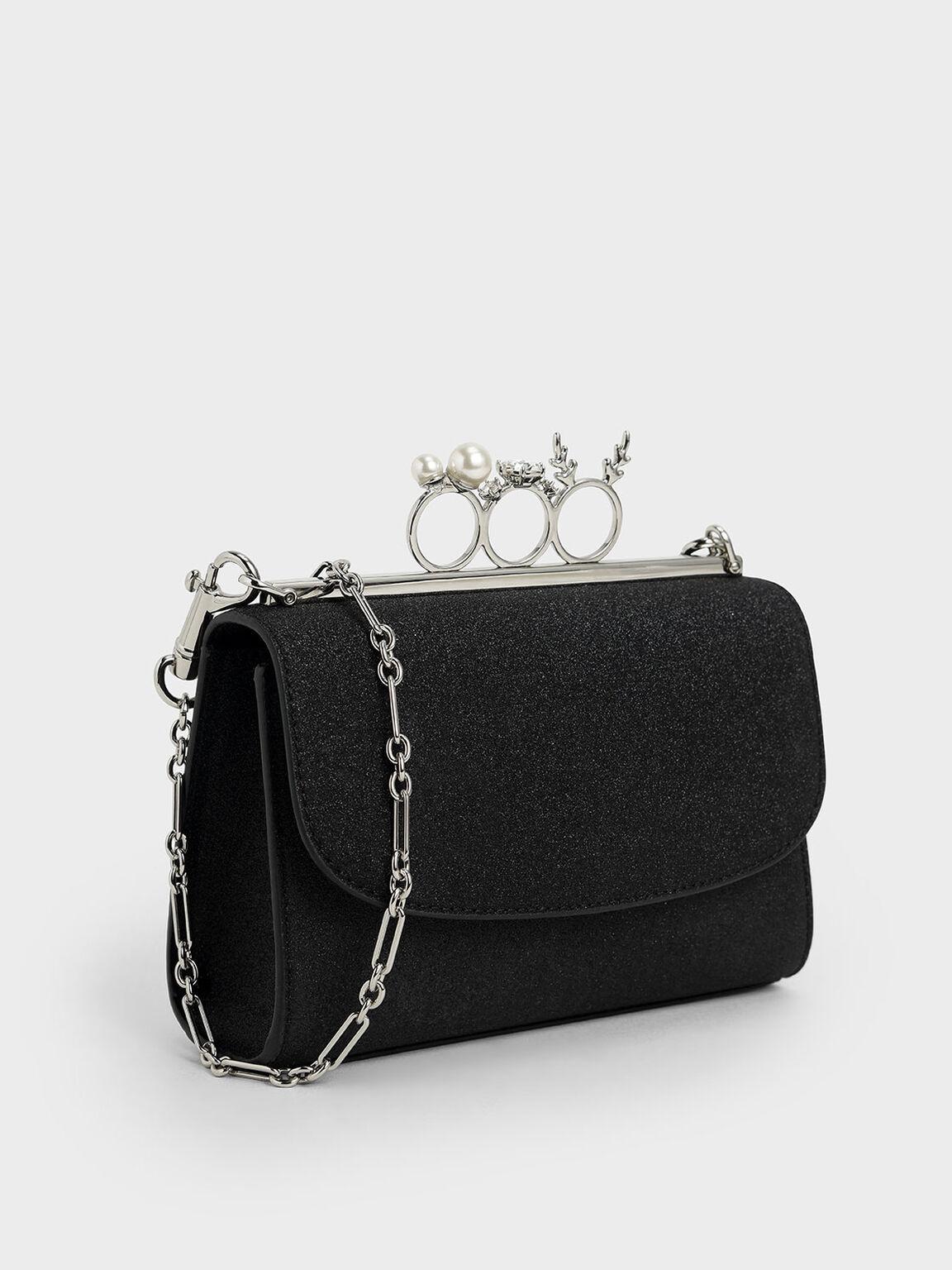 寶石環手拿包, 黑色特別款, hi-res
