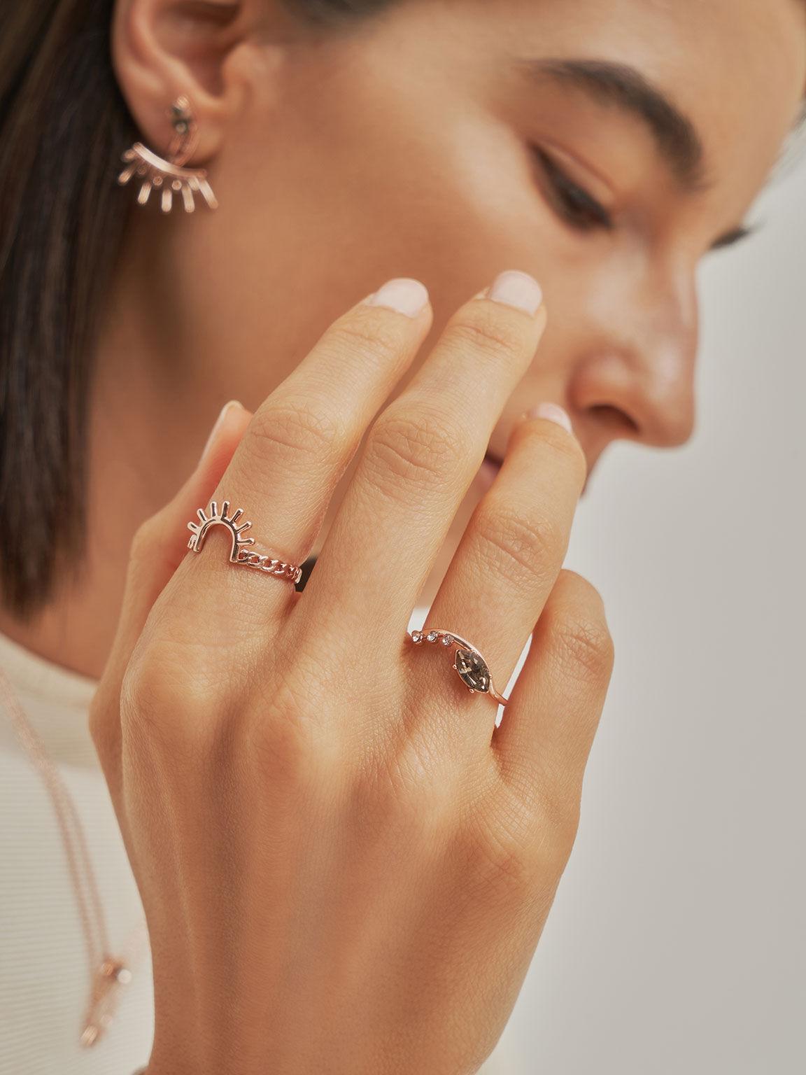 Chain Link Ring, Rose Gold, hi-res