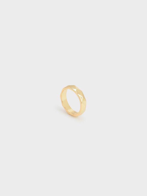 Geometric Ring, Gold, hi-res