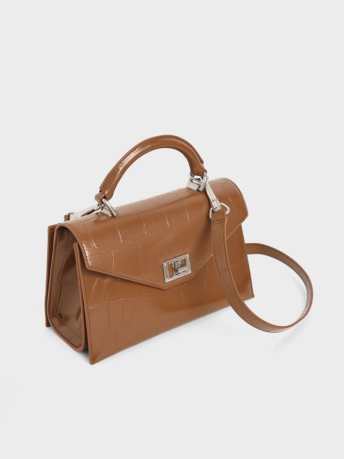 信封式手提包, 土黃色, hi-res