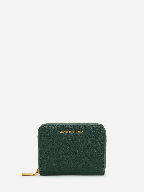 Basic Square Wallet, Green, hi-res