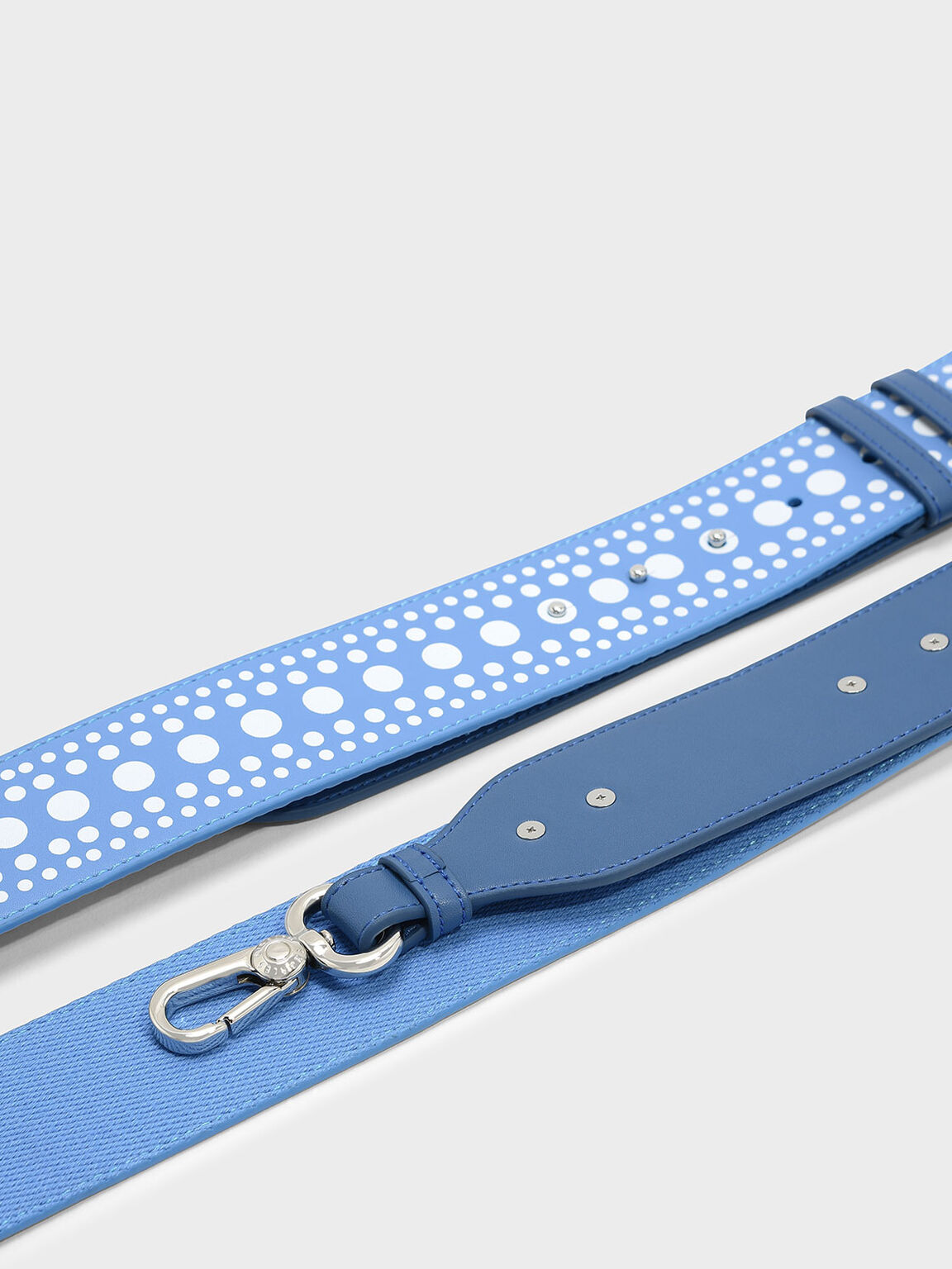 Elongated Detail Bag Strap, Blue, hi-res
