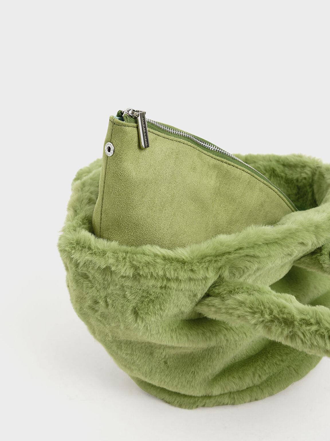 Textured Trapeze Bag, Green, hi-res