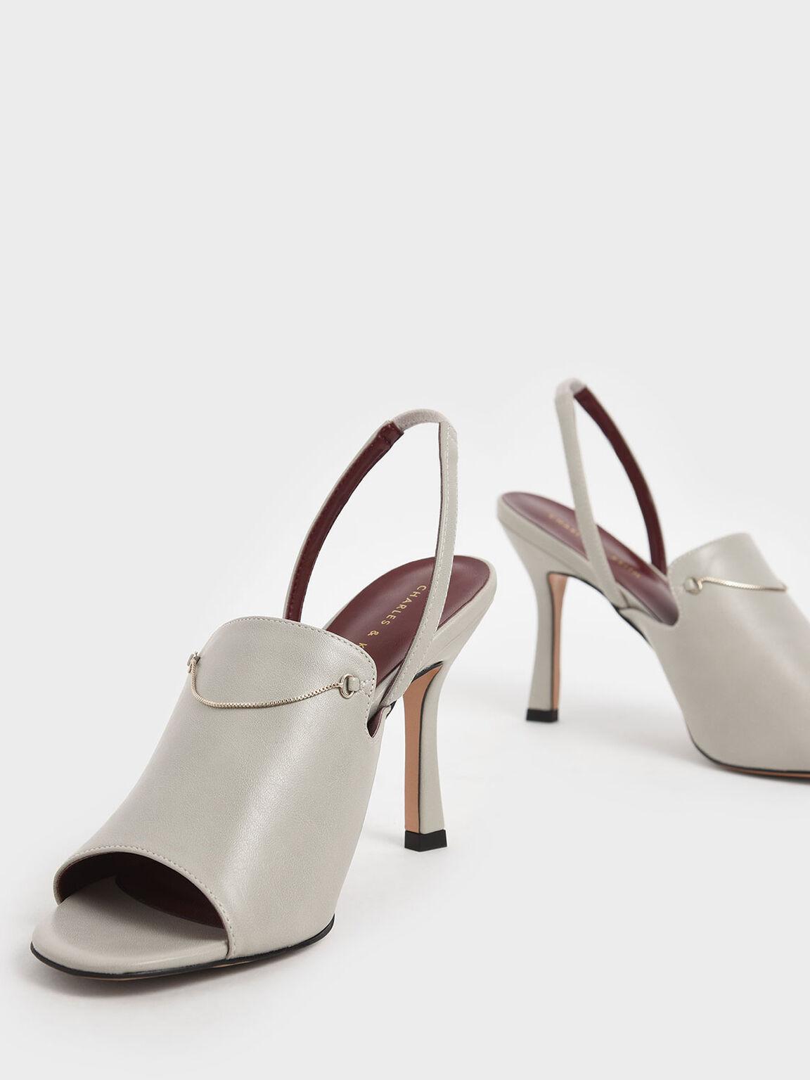 金屬圈細跟鞋, 石灰白, hi-res