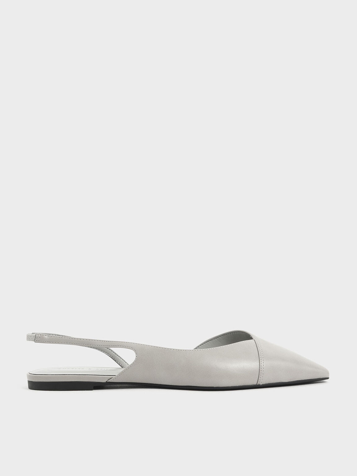 Asymmetric Slingback Flats, Light Blue, hi-res