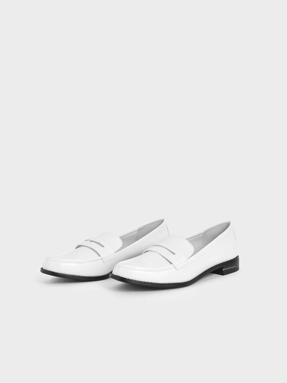Penny Loafers, White, hi-res