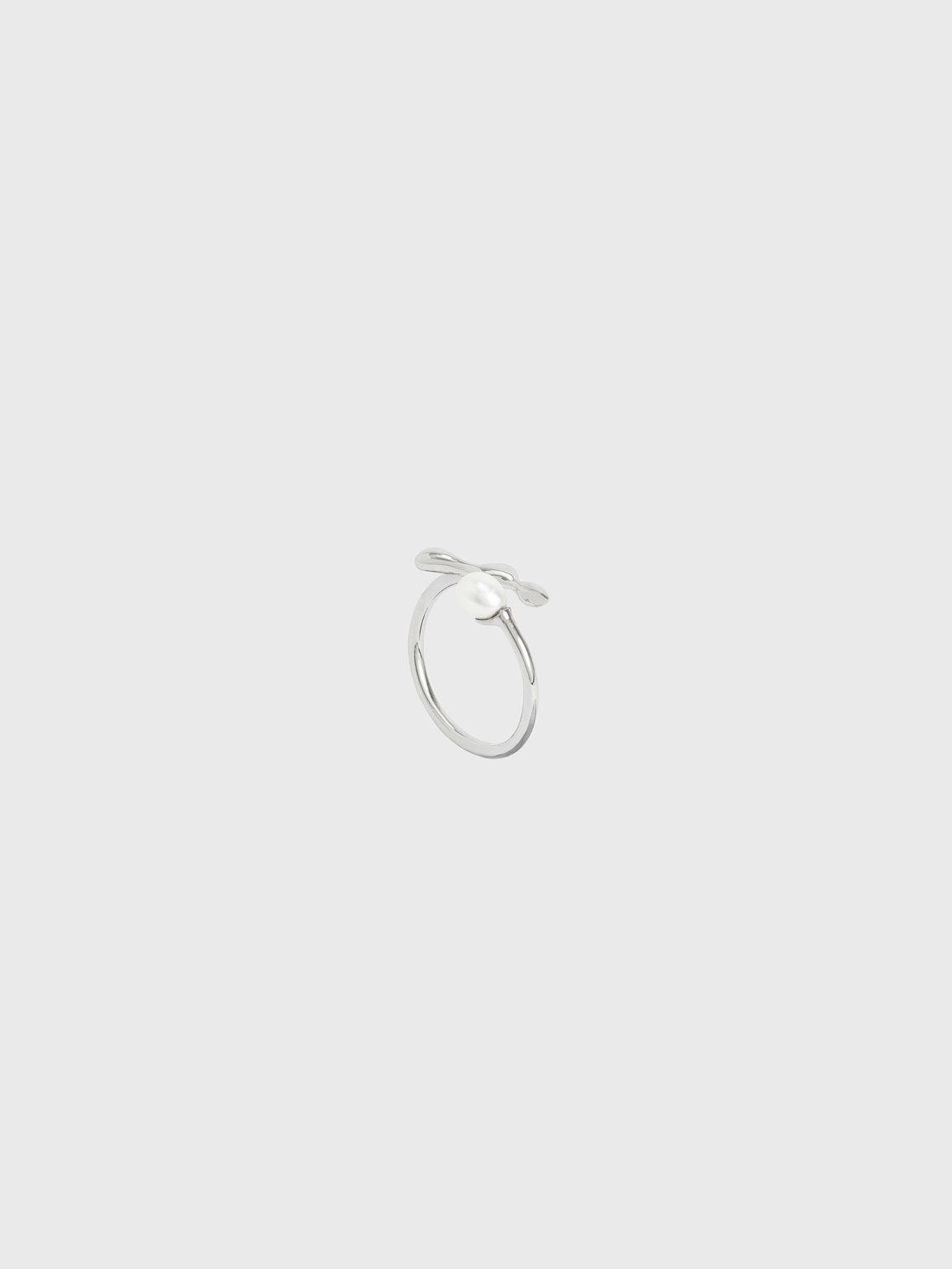 Sculpted Open Ring, Silver, hi-res
