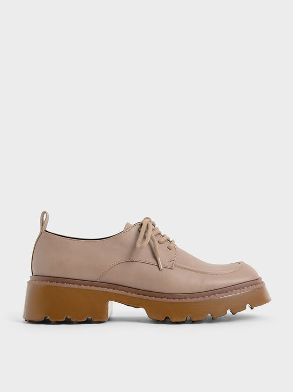 Billie Chunky Brogues, Taupe, hi-res