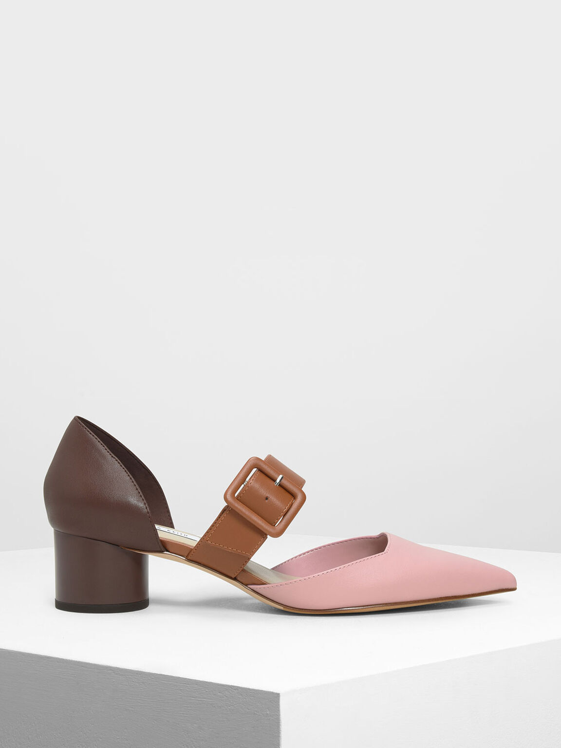 Mary Janes Buckle Pumps, Pink, hi-res
