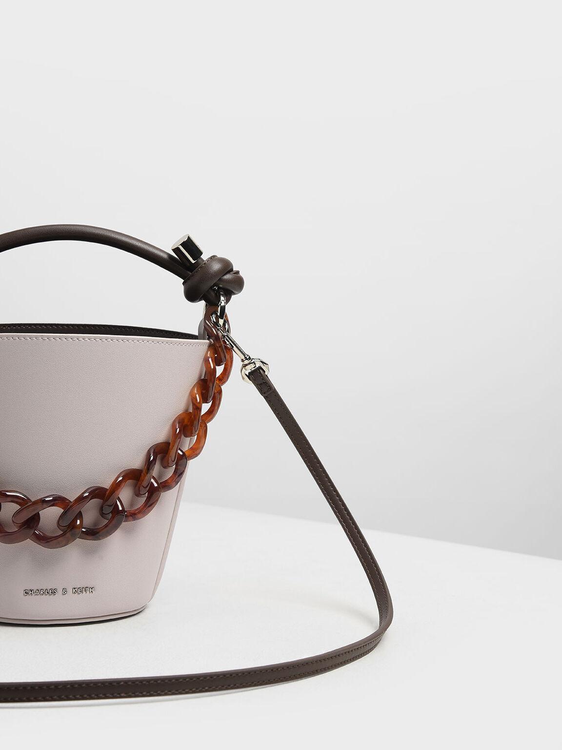 Chunky Chain Bucket Bag, Nude, hi-res