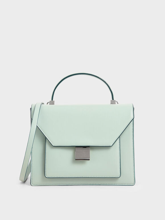 Top Handle Bag, Mint Green, hi-res