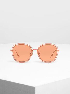 Double Wire Frame Shades, Orange