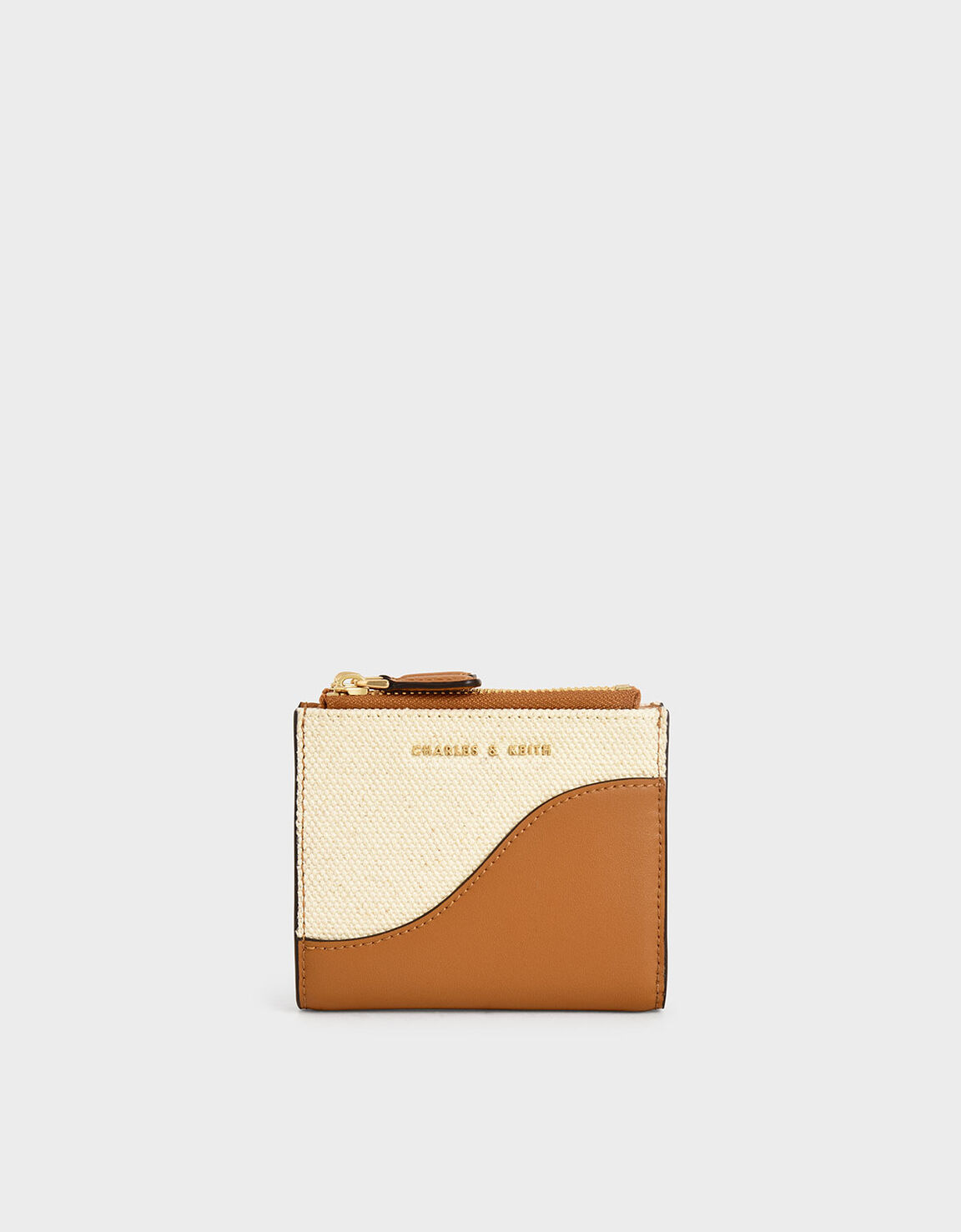 Two-toned Leather Zippered Pouch