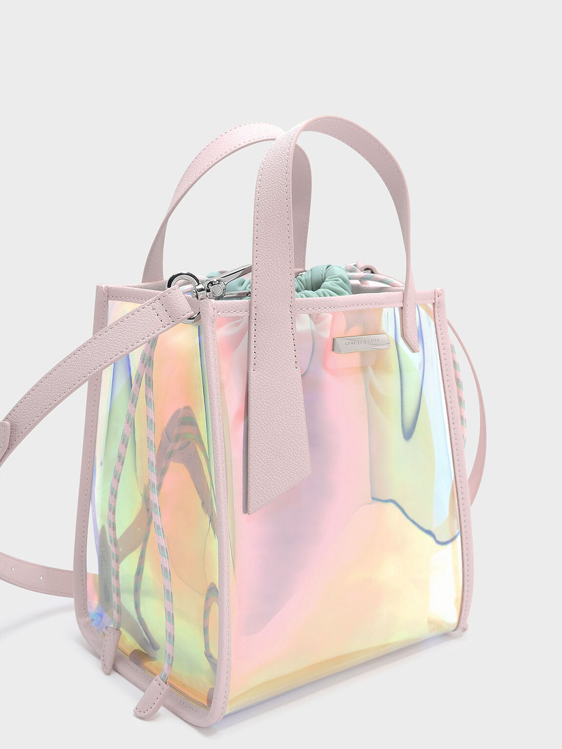 Top Handle Shoulder Bag, Pink, hi-res