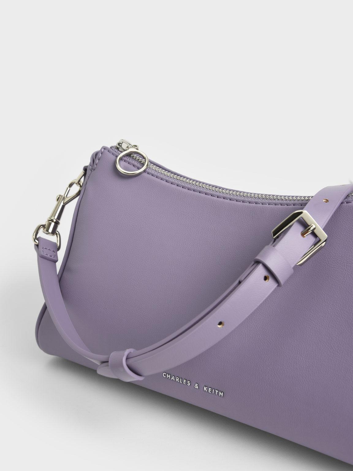 Braided Handle Bag, Lilac, hi-res