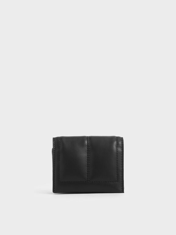 Quilted Card Holder, Black, hi-res