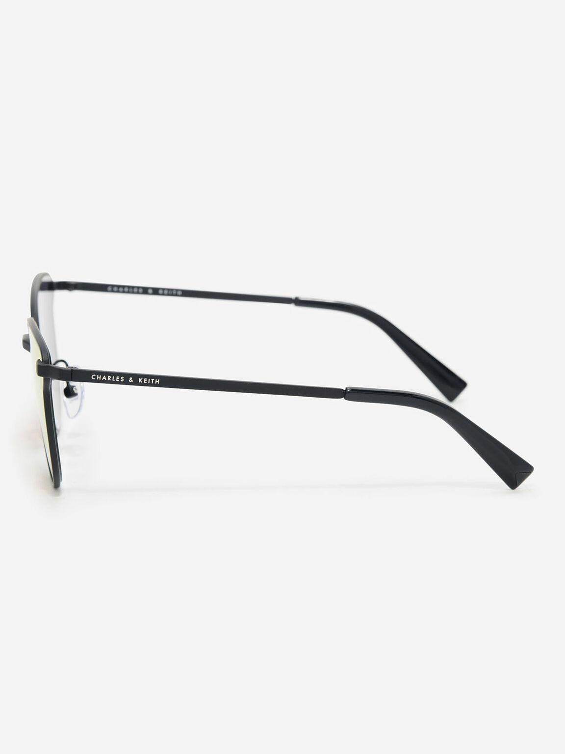 Butterfly Thin Frame Eyewear, Black, hi-res