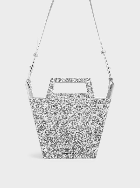 Structured Trapeze Tote, Multi, hi-res