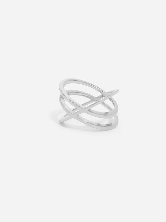 Criss Cross Ring, Silver