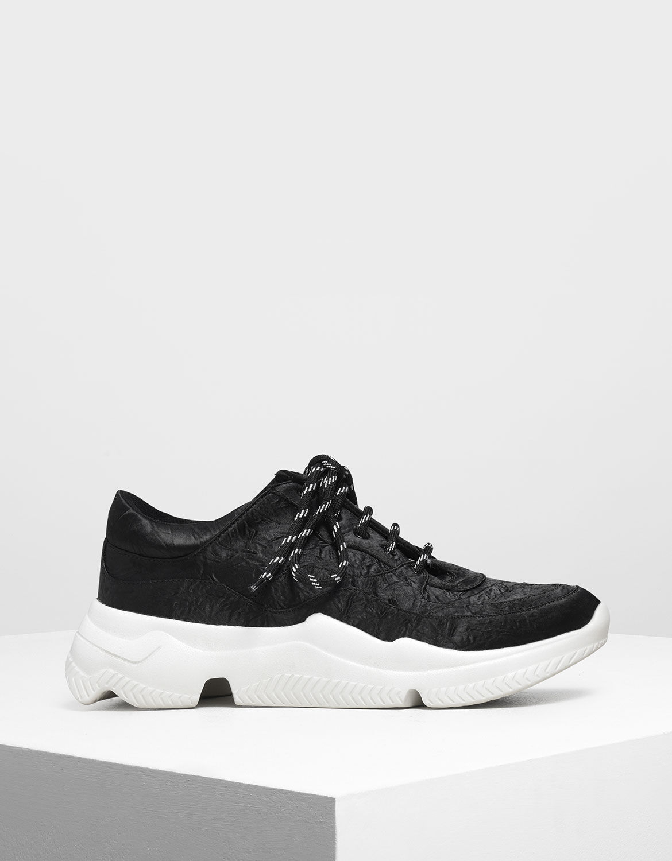 Black Chunky Sneakers | CHARLES \u0026 KEITH AU