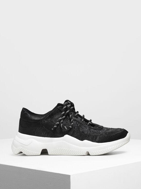 Chunky Sneakers, Black, hi-res