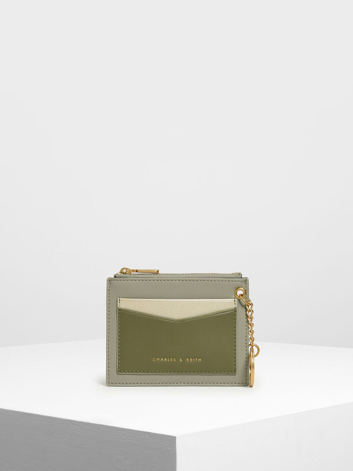 Chain Link Card Holder, Sage Green, hi-res