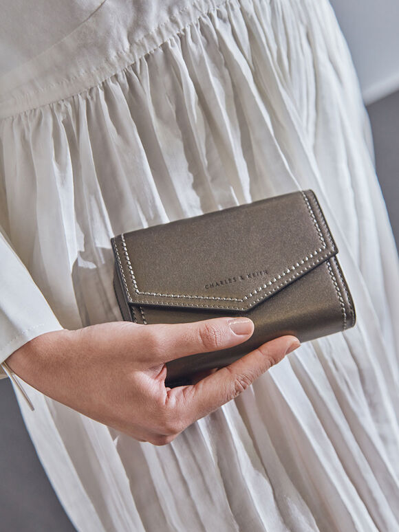 Classic Envelope Wallet, Pewter, hi-res