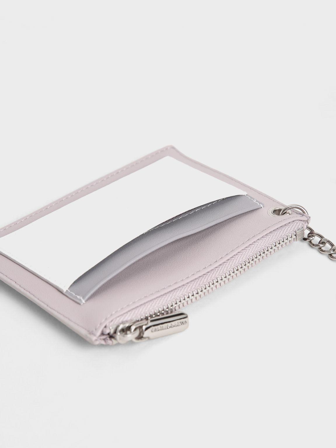 Ring Detail Card Holder, Lilac, hi-res