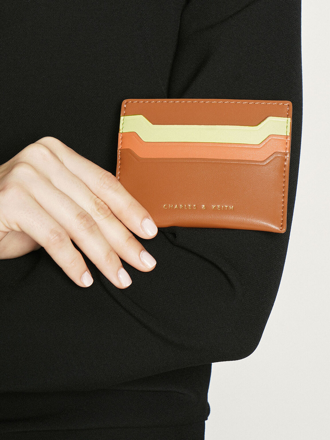 Multi-Slot Card Holder, Cognac, hi-res