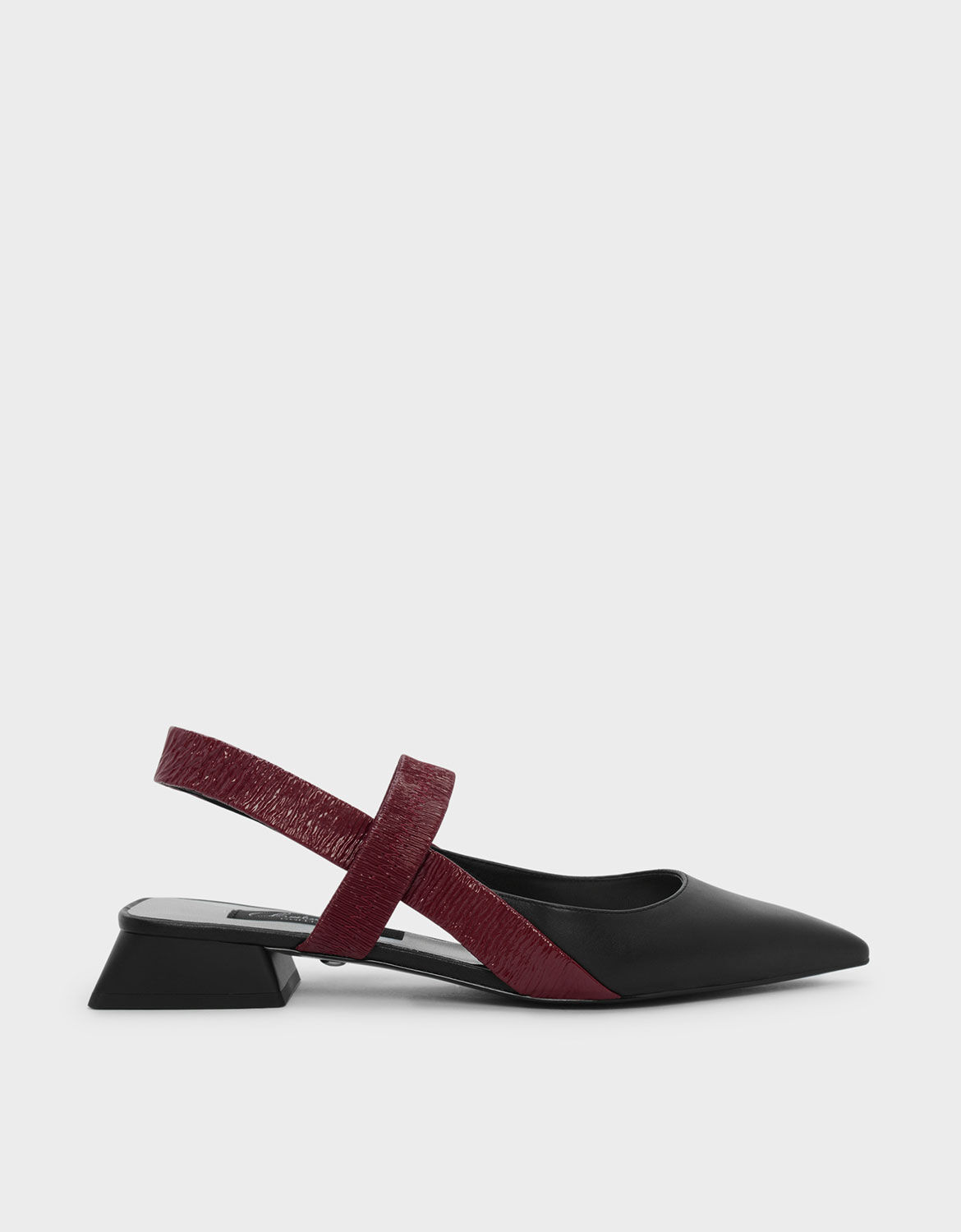 Red Mary Jane Leather Slingback Sandals