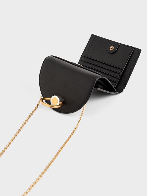 Ring Push-Lock Mini Wallet, Black, hi-res