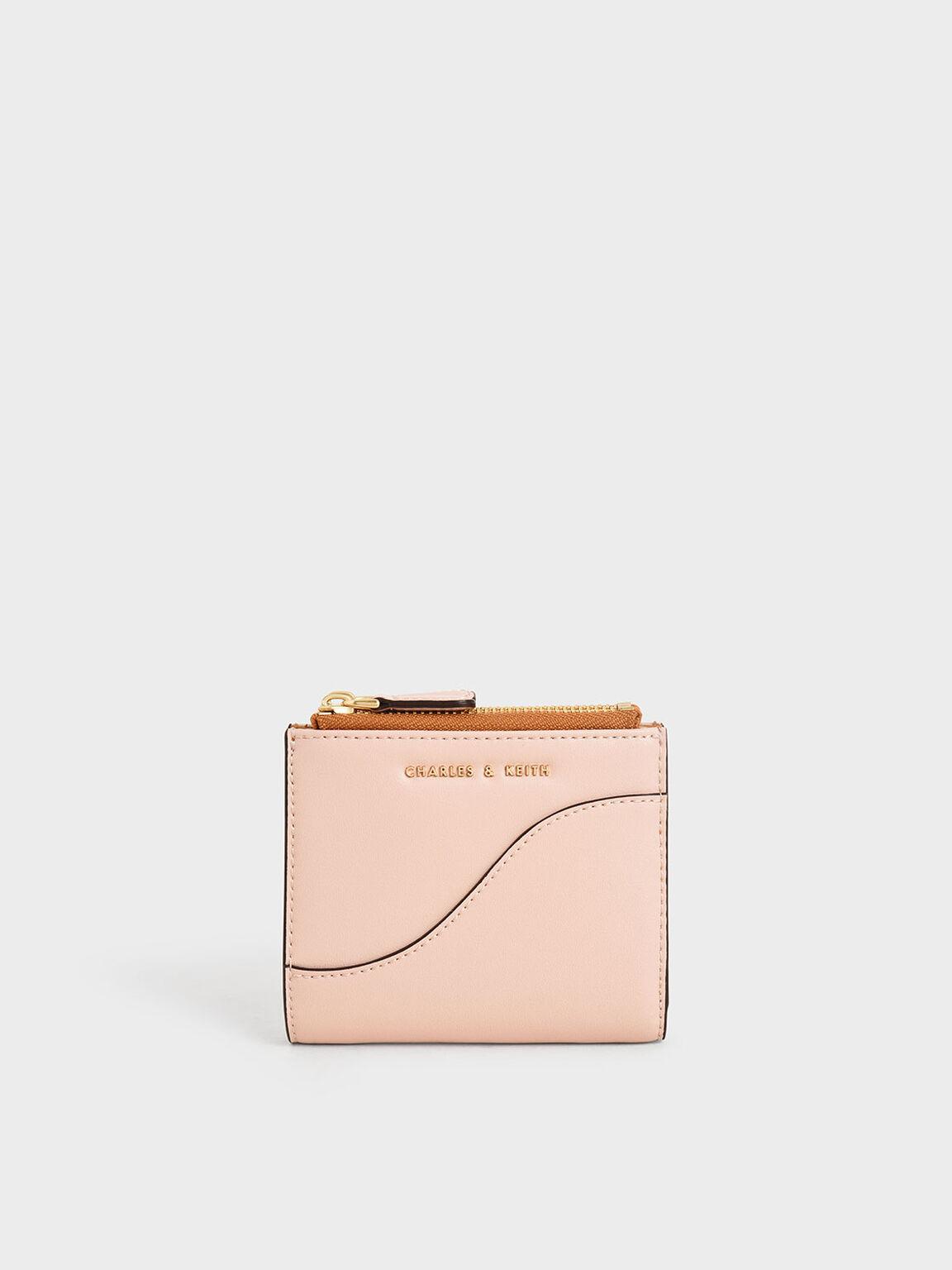 Top Zip Mini Wallet, Pink, hi-res