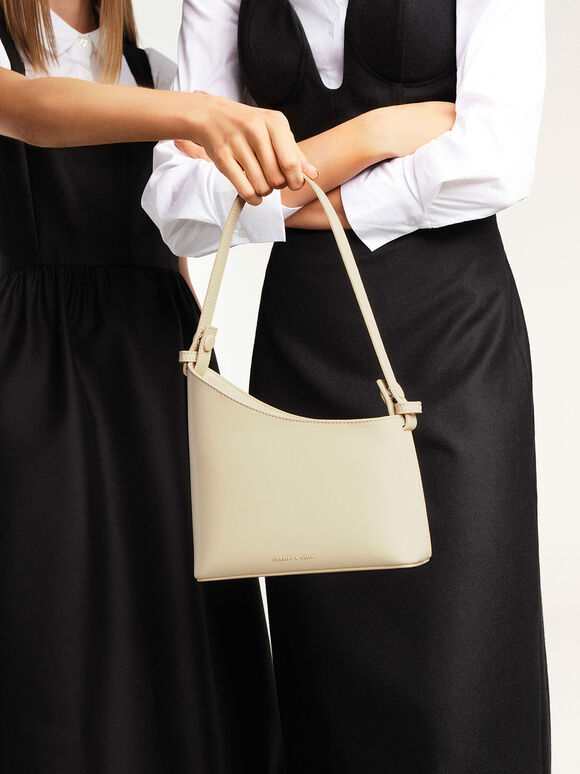 Asymmetrical Shoulder Bag, Chalk, hi-res
