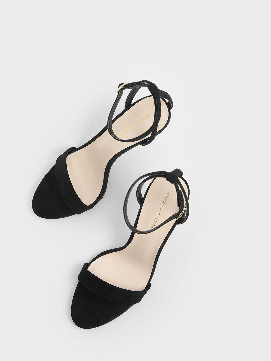 Textured Stiletto Heels, Black, hi-res