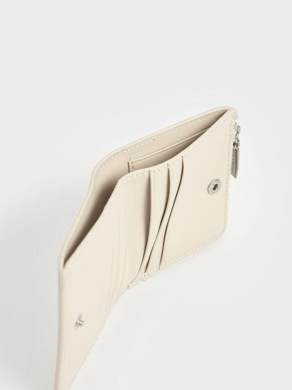 Zip Around Card Holder, Cream, hi-res