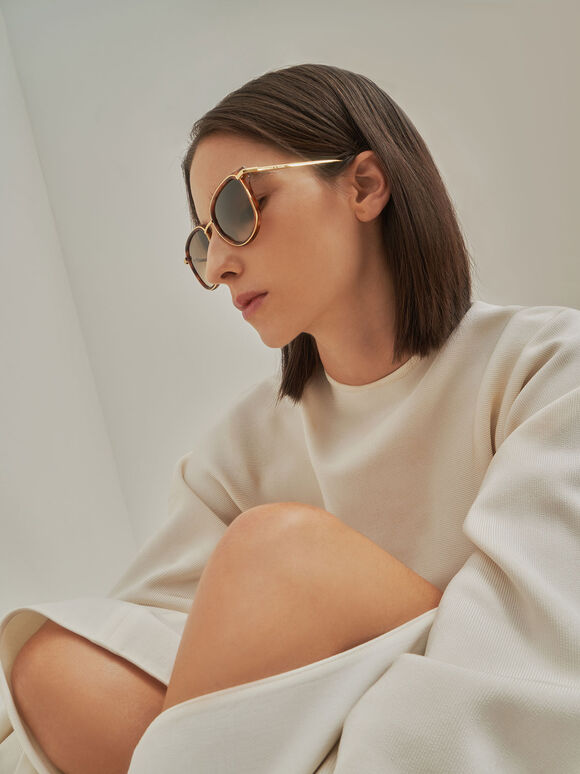 Oval Sunglasses, T. Shell, hi-res