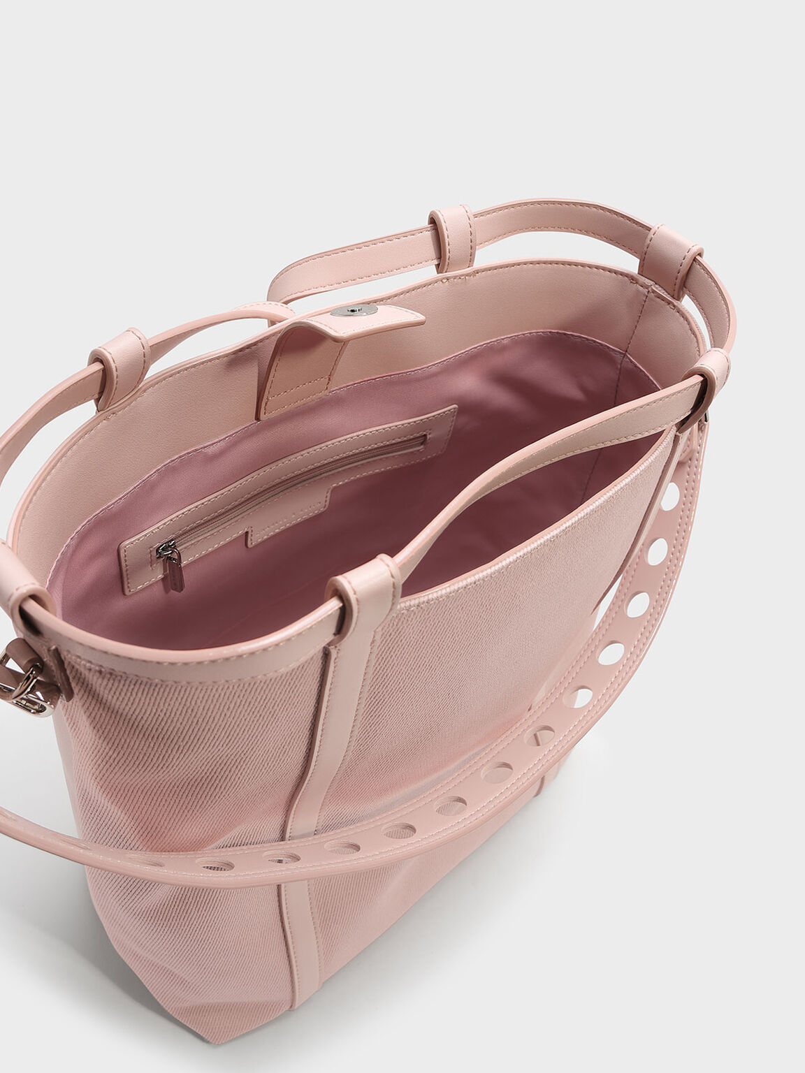 Drawstring Shoulder Bag, Blush, hi-res