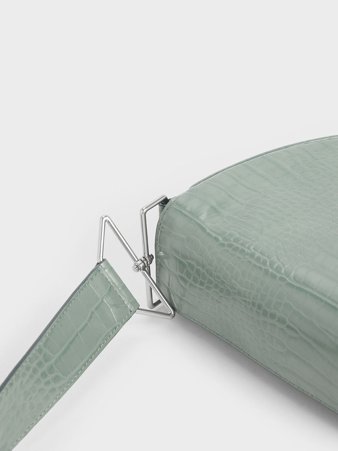 簡約肩背包, 灰綠色, hi-res
