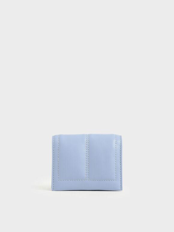 Quilted Card Holder, Blue, hi-res