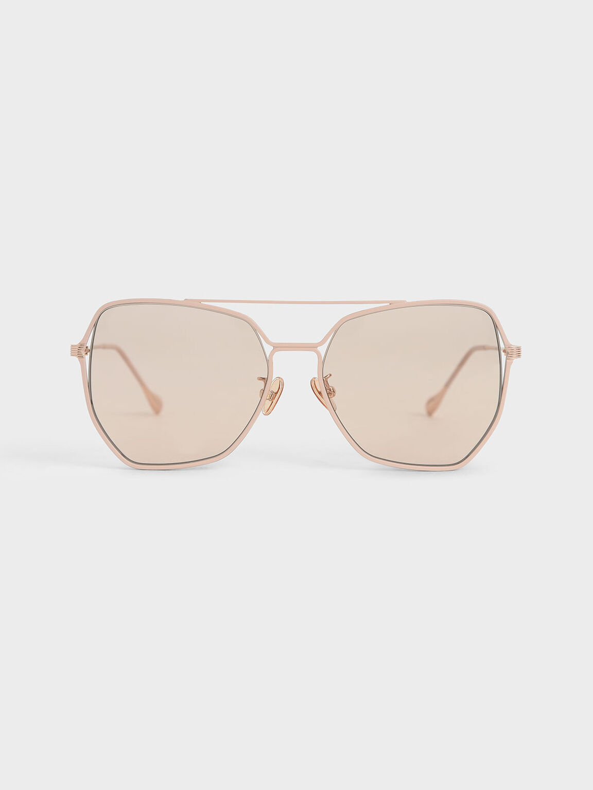 Tinted Butterfly Sunglasses, Pink, hi-res
