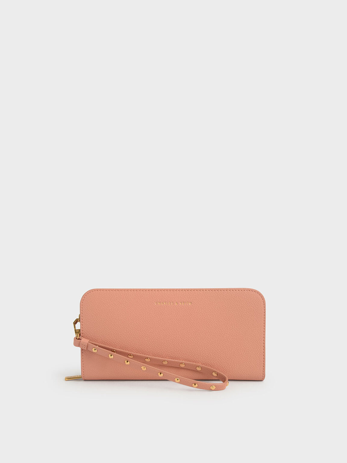 Long Wristlet Wallet, Peach, hi-res