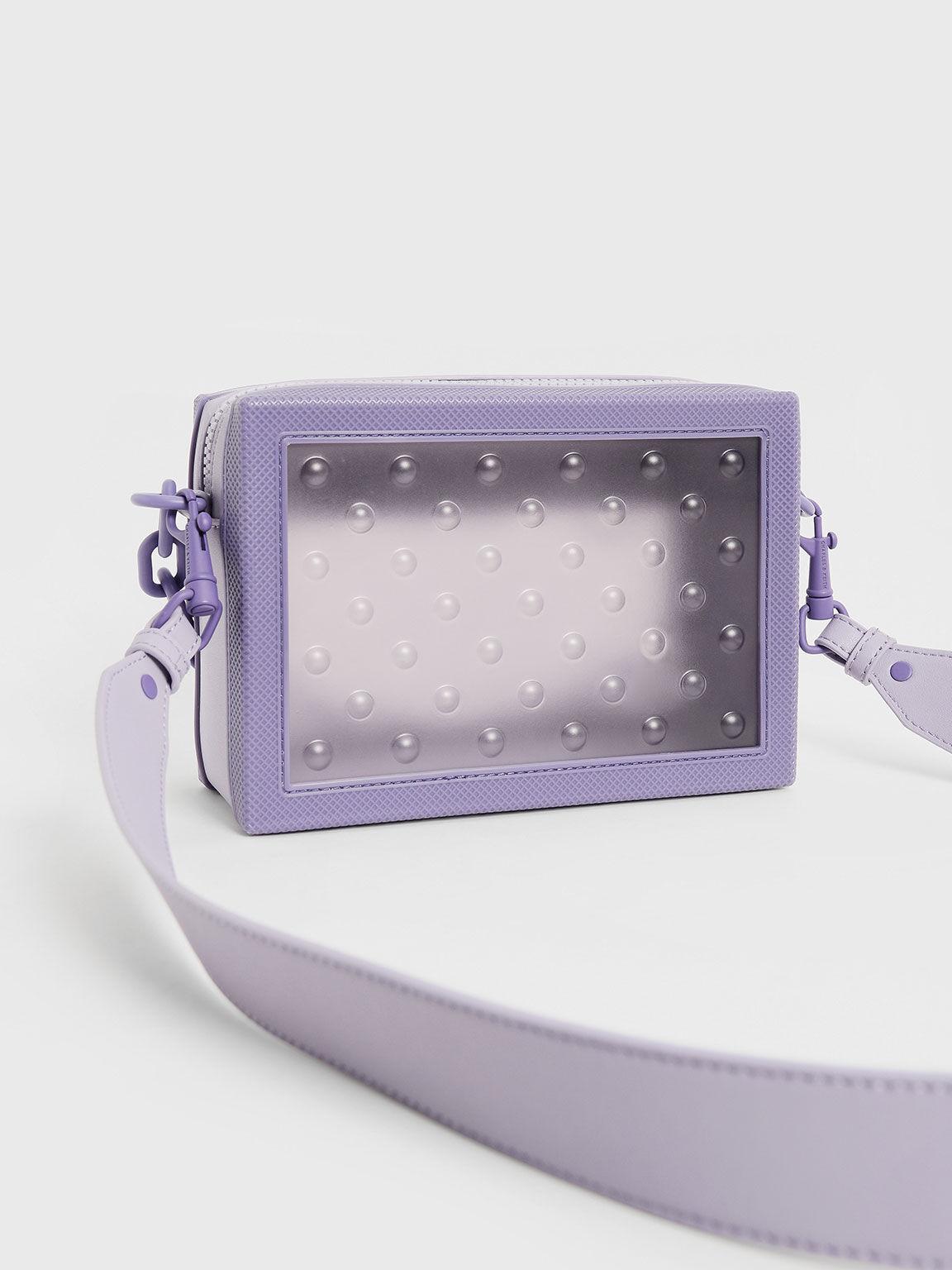 點點果凍斜背包, 紫丁香色, hi-res