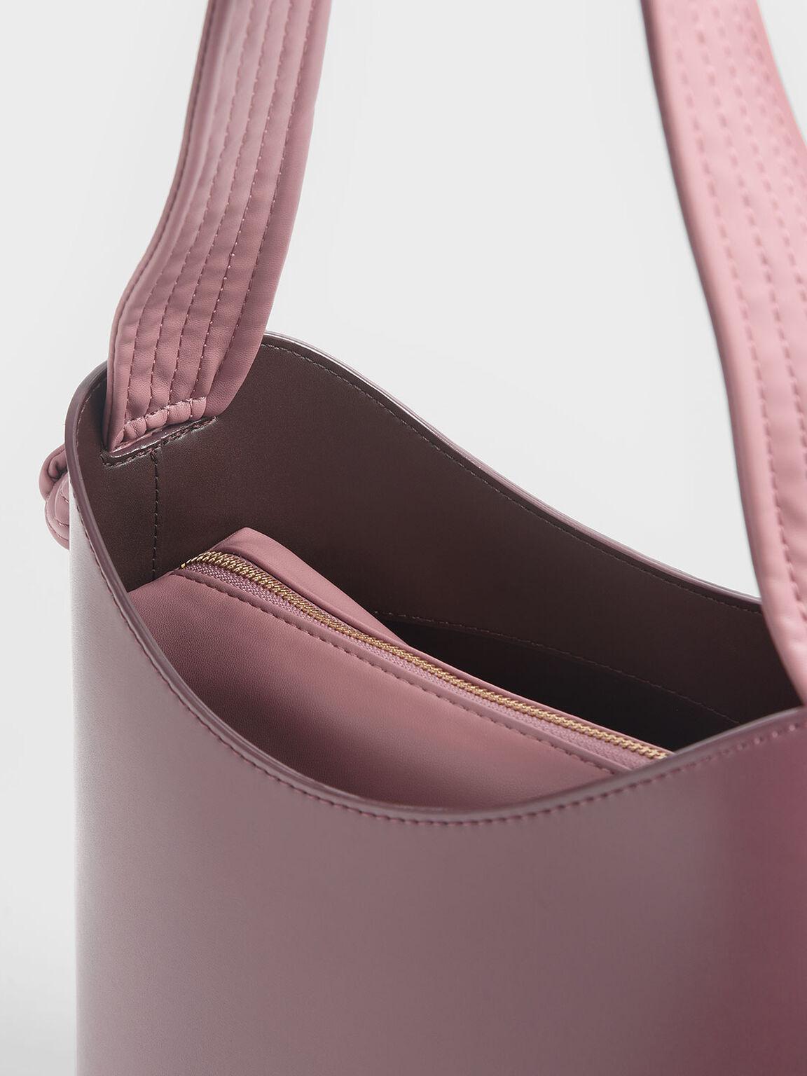 노트 핸들 버킷 백, Pink, hi-res