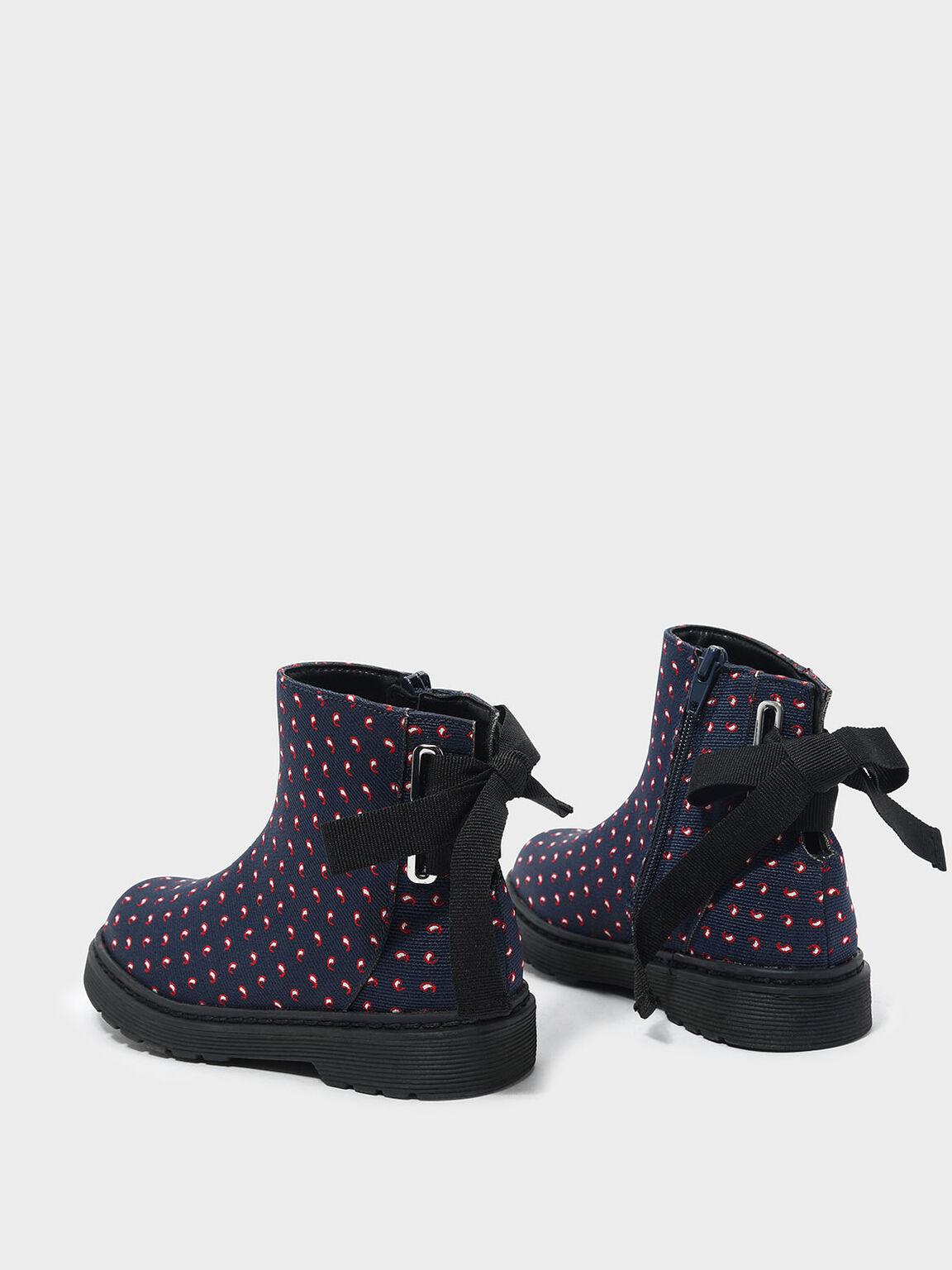 Kids Ribbon Detail Boots, Multi, hi-res