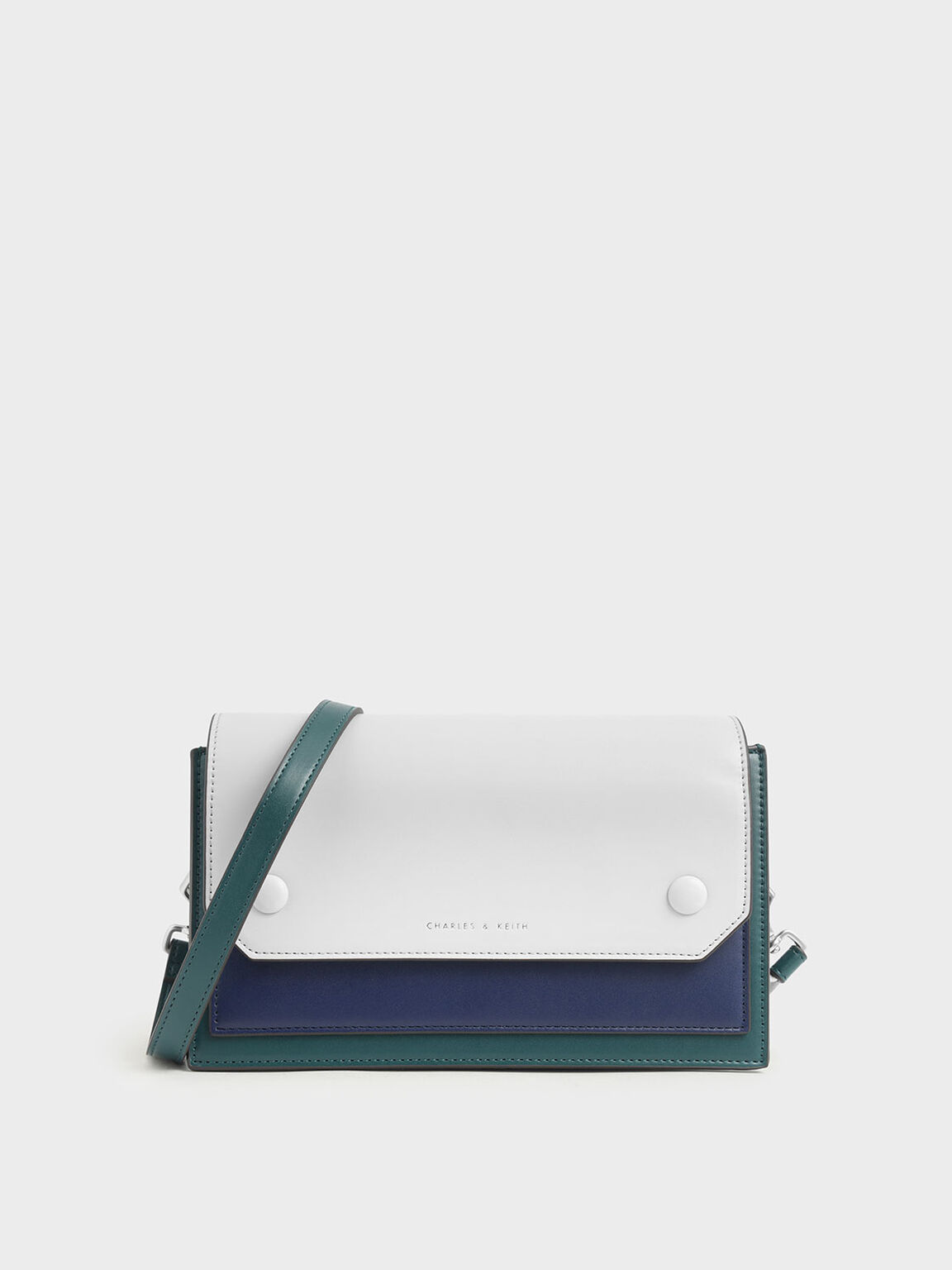 Two-Tone Mini Clutch Bag, Green, hi-res