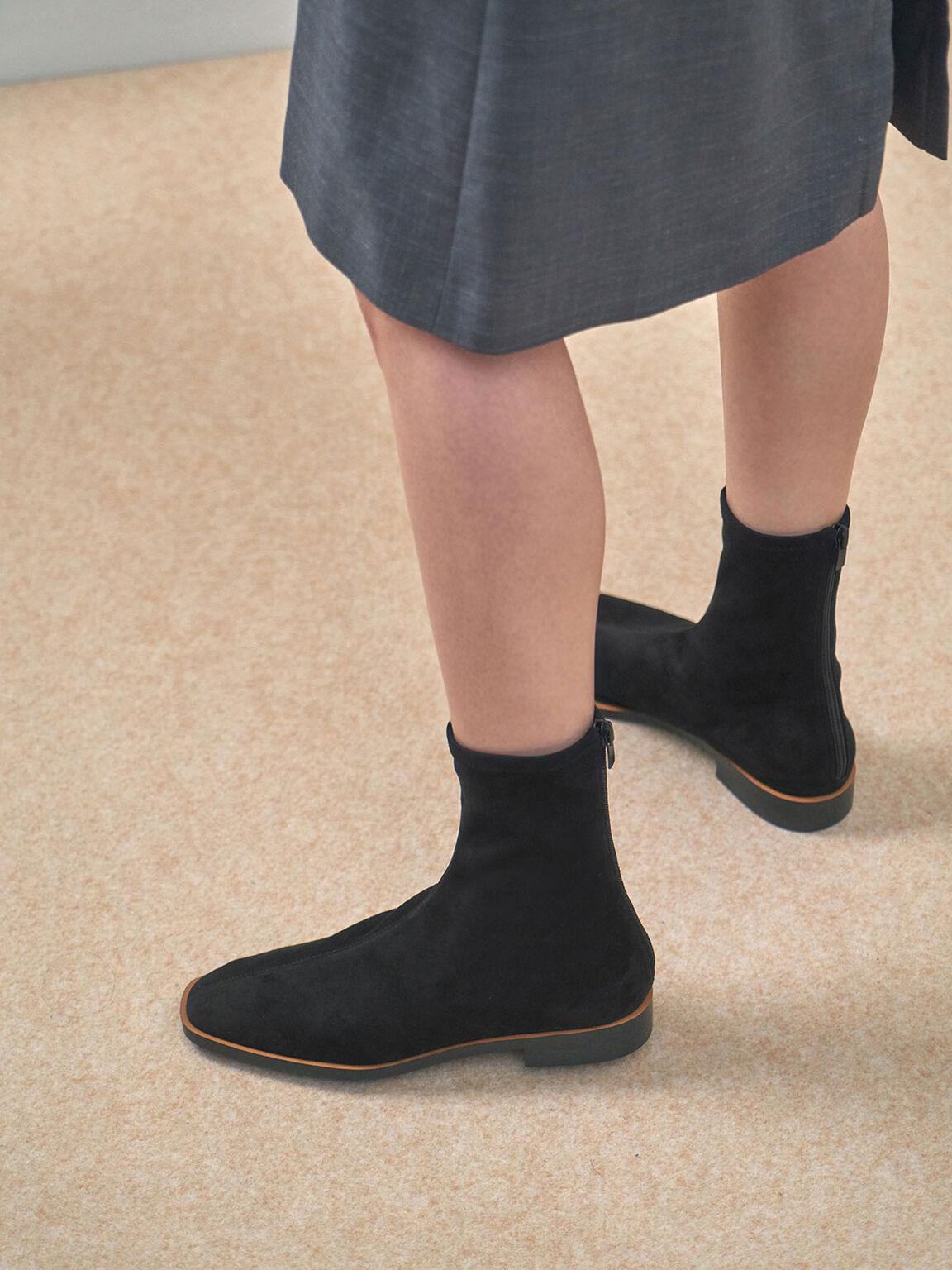 純色經典短靴, 黑色特別款, hi-res