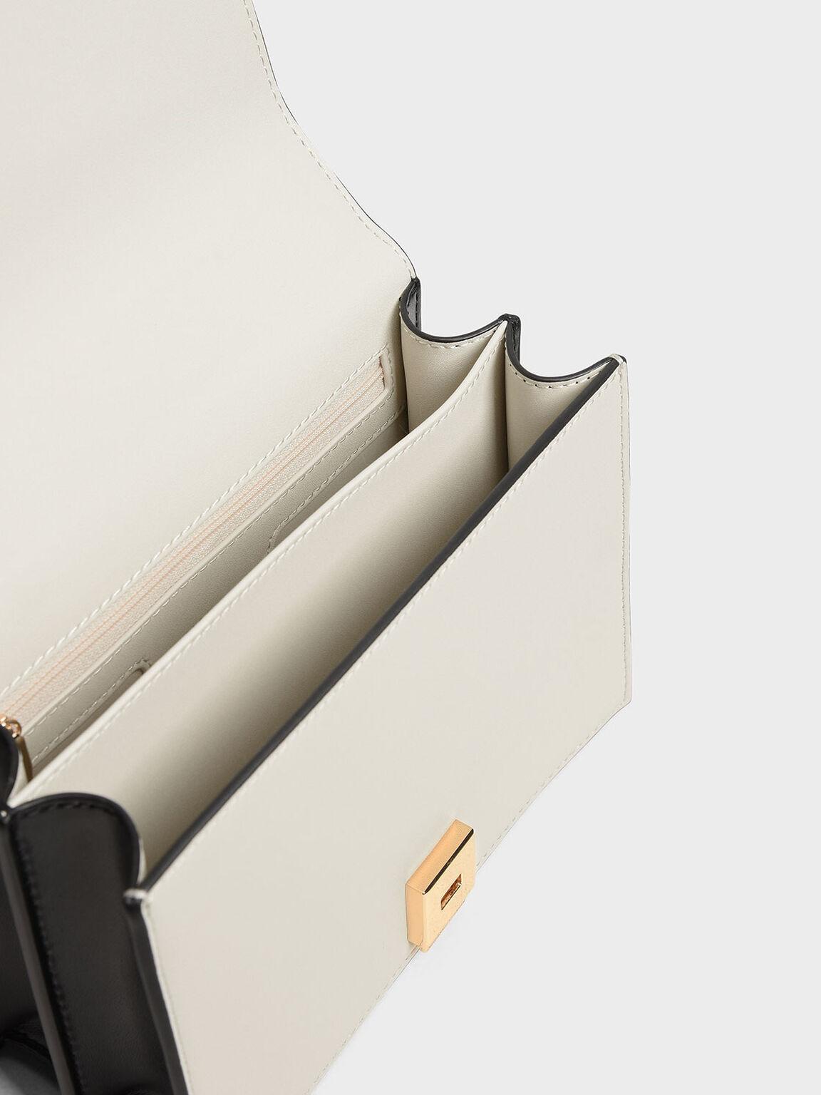 Stud Detail Crossbody Bag, Chalk, hi-res