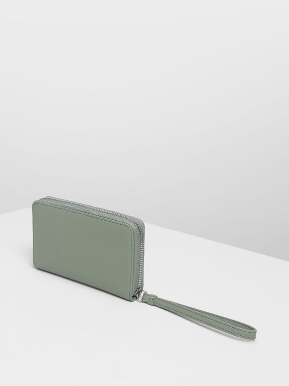 Zipped Wristlet, Sage Green